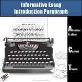Expository Informational Writing Introduction Paragraph