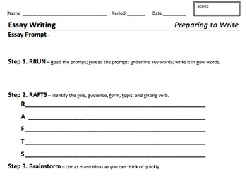 Essay Writing Graphic Organizer