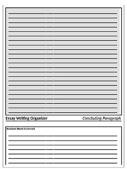 Essay Writing Graphic Organizer Notes