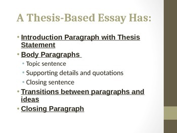 Essay Writing Guide: From Thesis to Paragraphs to Transitions