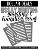 Essay Writing Guidelines and Transition Words