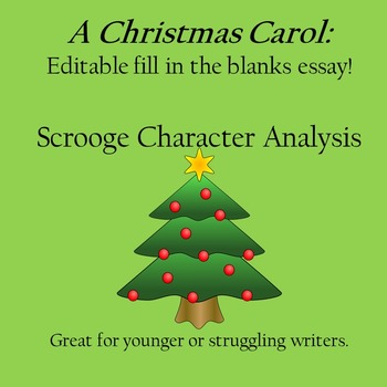 Essay Writing Help: Fill in the Blanks Essay for A Christmas Carol