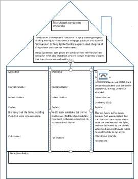 Essay Writing Houseplan for Pre-Writing