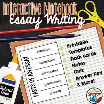 Essay Interactive Notebook Activities For Middle And High School  Originaljpg