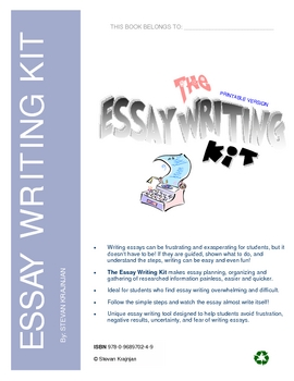 Essay Writing Kit, Printable - tips, tools, how to write an essay