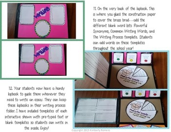 Essay Writing Lapbook-4 Square Templates
