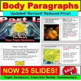 Paragraph Writing- Topic Sentence, Evidence, Inference PowerPoint, Google Slides