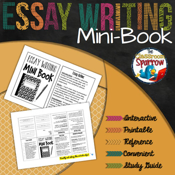 Essay Writing Mini-Book (A Perfect Addition to an ELA Interactive Notebook)