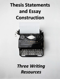 Writing Organizers for Essays-Writing Thesis Statements & Body Paragraphs