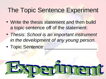 Essay Writing : Paragraph Lessons PowerPoint