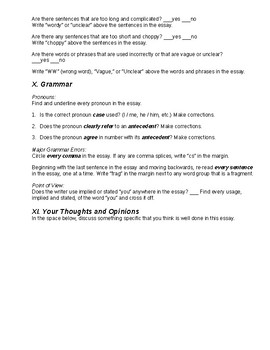 Essay Writing Peerreview Worksheet For An Exemplification  Essay Writing Peerreview Worksheet For An Exemplification  Illustration  Essay