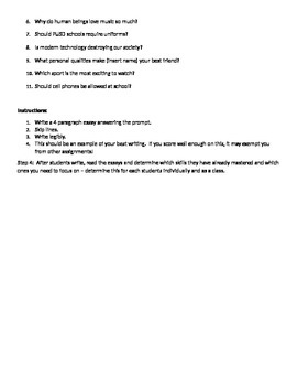 Essay Writing Pre Test