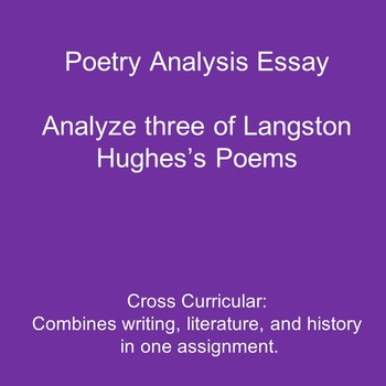 Essay Writing Prompt Analyzing Three Poems By Langston Hughes  Tpt Essay Writing Prompt Analyzing Three Poems By Langston Hughes Healthy Eating Essay also English Essay On Terrorism  Essay Proposal Format