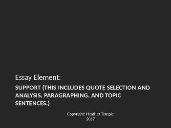 Essay Writing: Quote Selection, Analysis, and Paragraphing