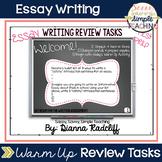 Essay Writing Review Tasks Test Prep