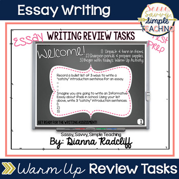 Essay Writing Review Tasks Test Prep