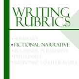 Essay Writing Rubrics - Fictional Narrative Rubric