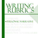 Essay Writing Rubrics - Personal Narrative Rubric