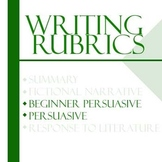 Essay Writing Rubrics - Persuasive Rubric (Beginner & Advanced)