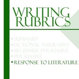 Essay Writing Rubrics - Response to Literature Rubric
