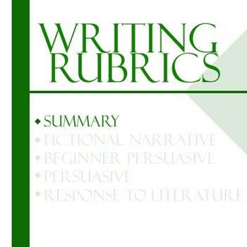 Essay Writing Rubrics - Summary Rubric