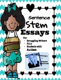 Essay Writing Sentence Stems