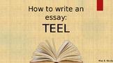 Essay Writing: TEEL paragraphs