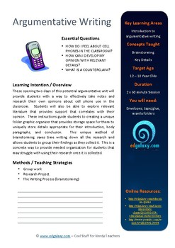 Essay Writing Task: Mobile Phones in Schools (Argument / Discussion)