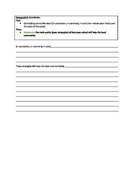 Essay Writing Template