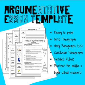 essay outline template for middle or high school  including rubric originaljpg