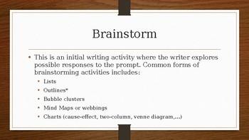 Essay Writing Terminology PowerPoint