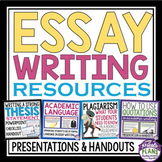ESSAY WRITING PRESENTATIONS, ASSIGNMENTS, HANDOUTS & ORGANIZERS