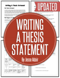 English: Writing A Thesis Statement Grades 6 - 12