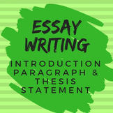 Essay Writing for All Subjects: Introduction Paragraph & T
