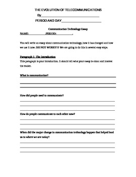 Essay Writing for Engineering :Communication Technology an