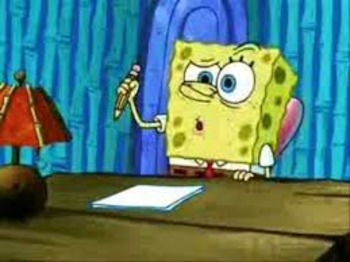 Essay Writing with SpongeBob