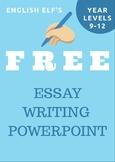 Teaching Essay Writing PowerPoint (PART 1)