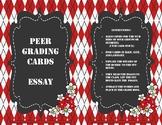 Peer Essay Grading Cards