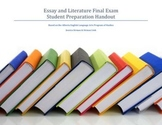 Essay and Literature Final Exam Review Student Handout