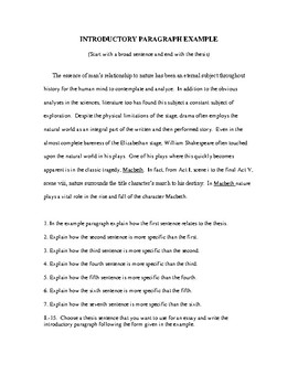 Examples Of Introductory Paragraphs For Research Papers
