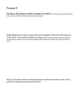 Essay on Conflict-CCSS ELA Informative Aligned