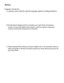 Essay on Theme-CCSS ELA Informative Aligned