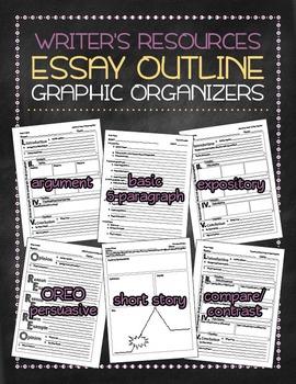 Essay outline graphic organizers