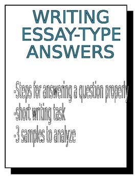 Essay-type Answers