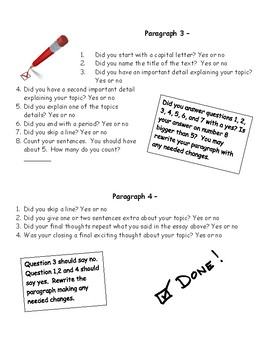 Essay writing Guide - great for the writer that is unclear on expectations.