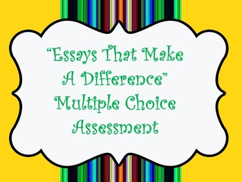 Essays That Make A Difference Exam- Code X Unit 1: College 101