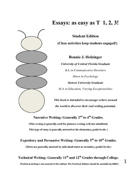 Essays as Easy as T 1, 2, 3! Student Edition (only purchase w/Teacher Edition)