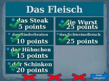 Essen (Food in German) Family Feud