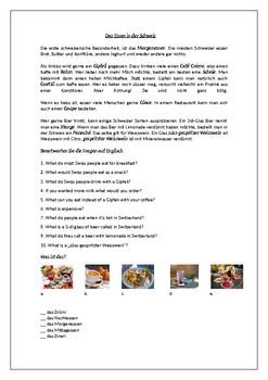 Essen in der Schweiz / Die Schweiz / Food in Switzerland