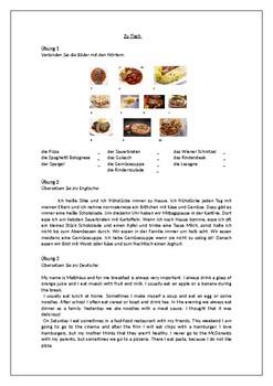 Essen und Trinken / Essen in Deutschland / Food and drink in Germany